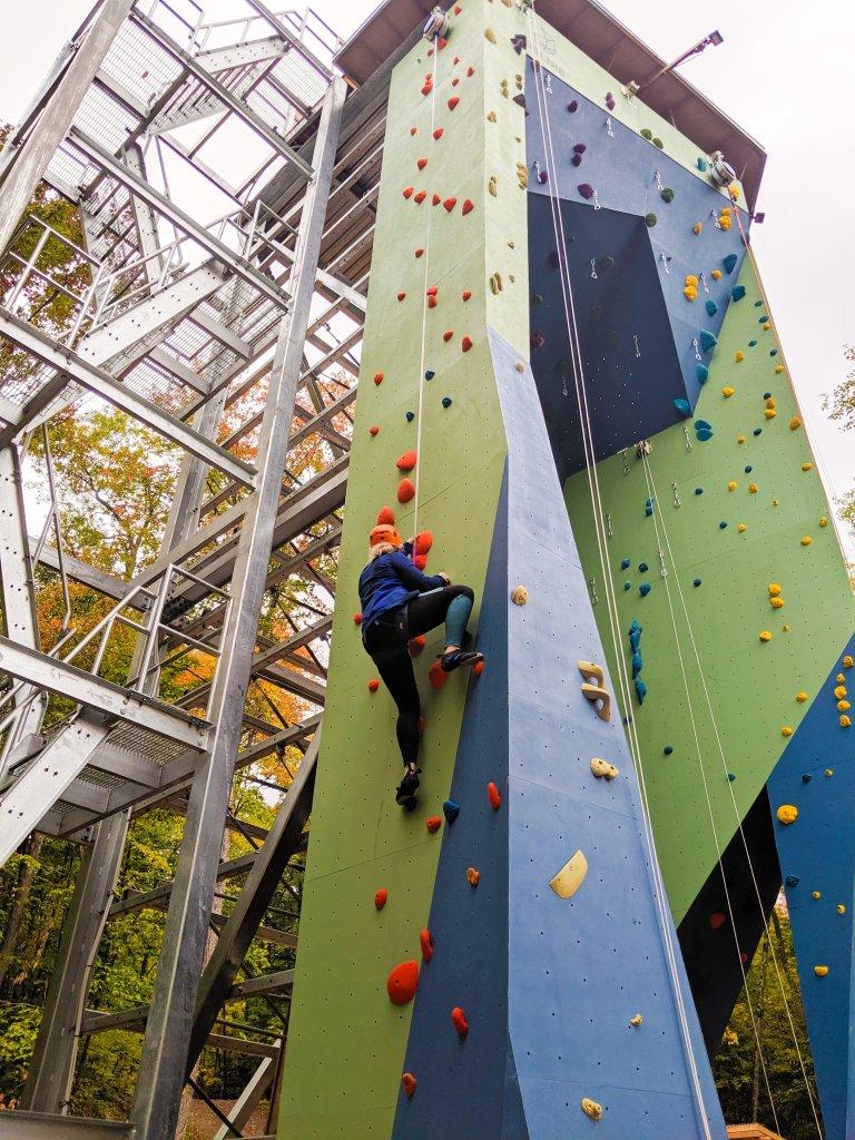Kenauk climbing wall