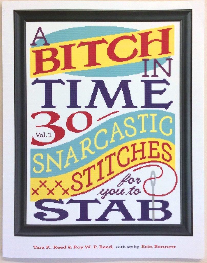 A Bitch In Time cross-stitch book