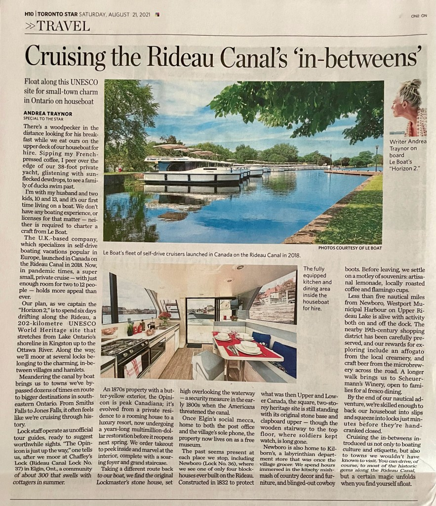 rideau canal houseboat rental