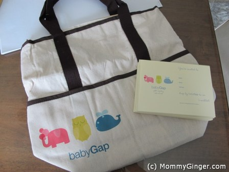 The cute and nice diaper bag from GAP.