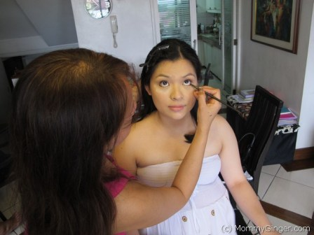 having my make up done by Gold Magtoto