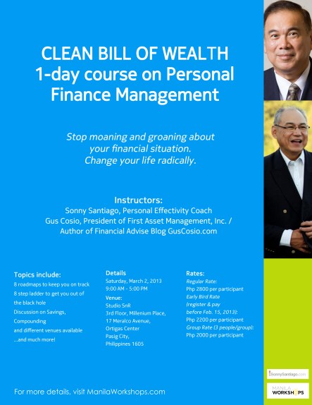 Clean Bill of Wealth Workshop