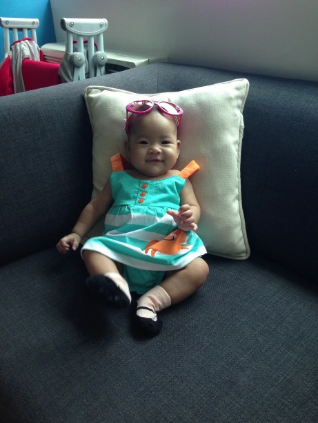 Baby Fashionista wearing her summer outfit