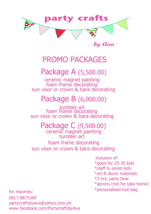 Party Crafts Promo