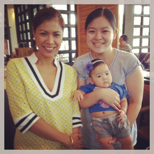 Suzy Entrata-Abrera with Mommy Ginger and Baby Zeeka