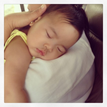 Baby Zeeka not feeling well... on the way to the Pedia