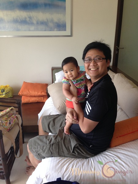 Daddy EJ with Baby Zeeka!