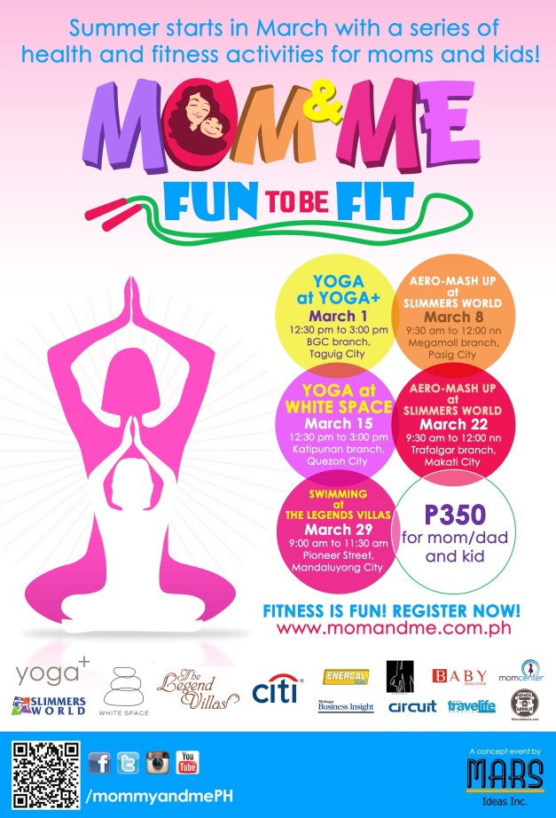 Mom and Me Fun To Be Fit PR Poster