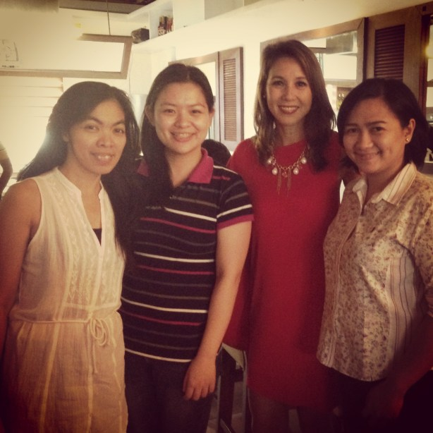 Mommy Ginger with Mommy Que, Ms. Christine Jacob-Sandejas and Mommy Jem