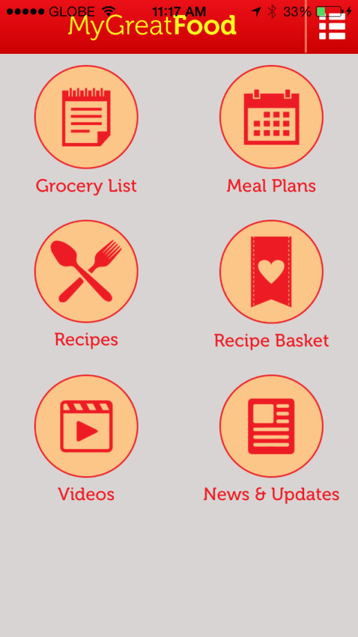 My Great Food App