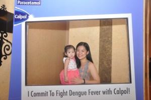 Mommy Ginger and daughter during Calpol Aksyon Laban sa Dengue
