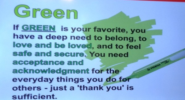 If your favorite color is GREEN, you are...