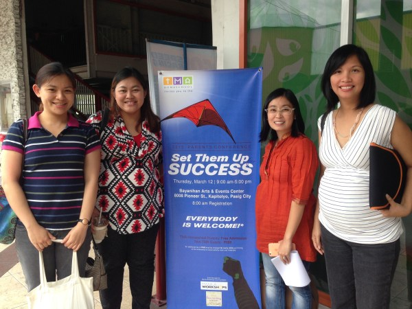 Me, Michelle, Sanne and Mariel (from Manila Workshops and The Learning Basket)