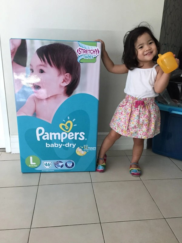 I wasn't the only one who was happy with this Pampers Big Delivery!