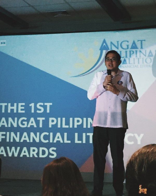 Sen. Bam Aquino during the Angat Pilipinas Financial Literacy Awards