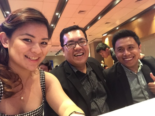 Me, Fitz Villafuerte and Marvin Germo at the Angat Pilipinas Financial Literacy Awards Night