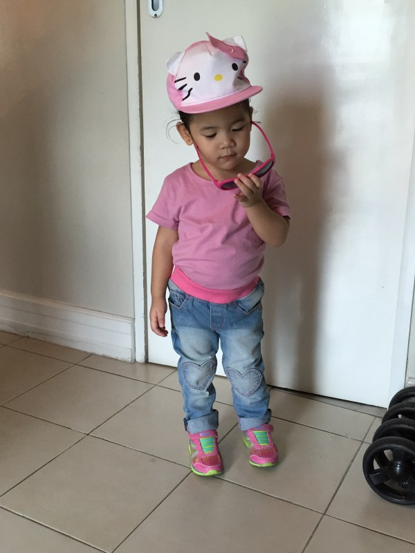 My Little Lady wearing the Babiators Popstar Pink