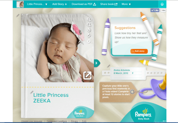Pampers Baby Book Zeeka 1