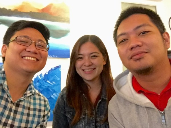 Taxumo Team: EJ - CEO, Ginger - CMO and Dex - Lead Developer