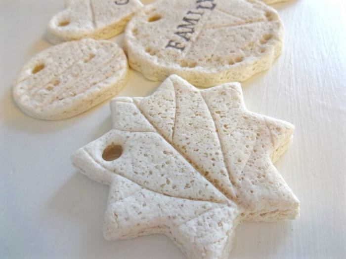 sea salt dough ornaments
