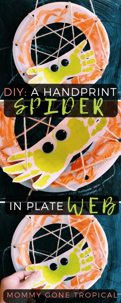 How to make a handprint spider in plate web. So easy and cheap!