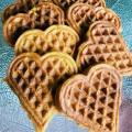 Sweet Potato Carrot Waffles recipe #sweetpotato #carrot #wafflerecipe #sweetpotatowaffles | mommygonetropical.com