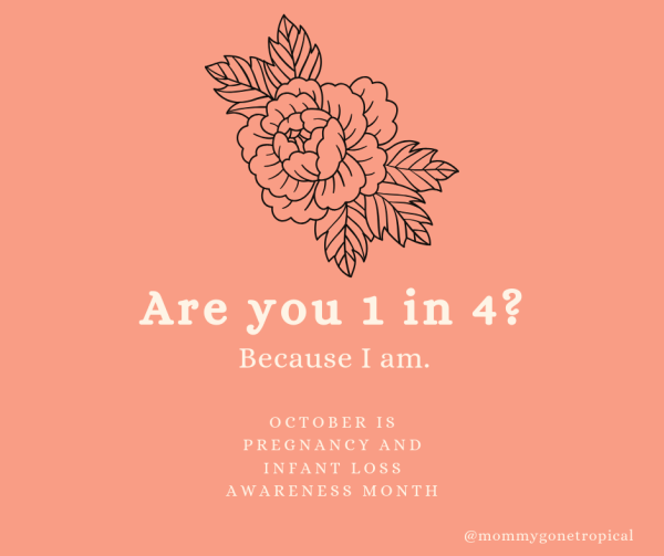 Are you 1 in 4? Because I am. October is Pregnancy and Infant Loss Awareness Month.