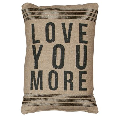 {Vintage Feedsack Feel} Love You More Pillow