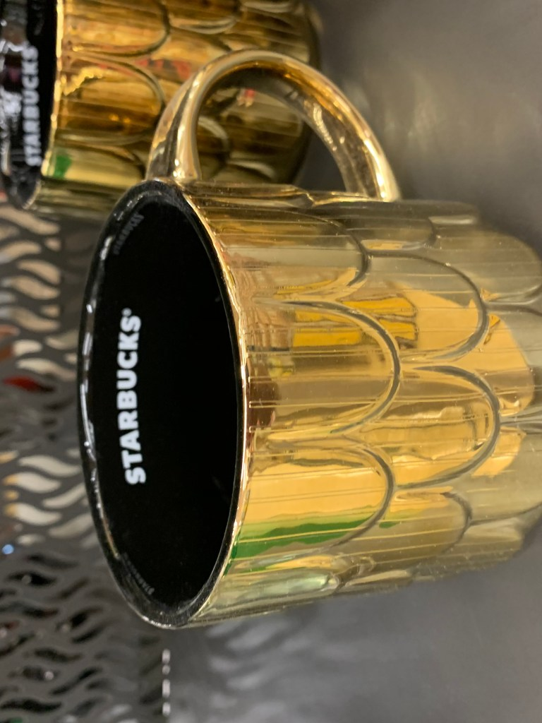 starbucks gold mug