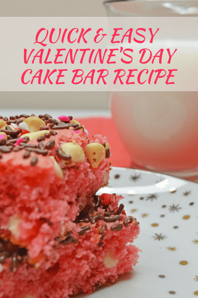 Easy Pink Valentine's Day Cake Bar Recipe