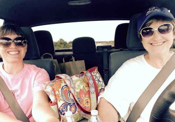 Me and Mama on our way back from the store.