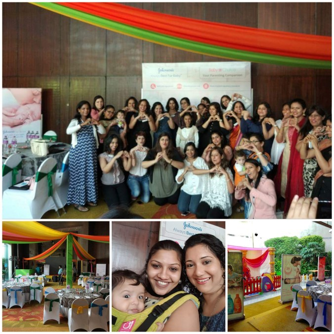 Johnson's Baby #BestforBaby baby chakra blogger meet influencer event, blogger team, mumbai mom bloggers, grand hyatt, hyatt regency ball room, baby chakra event, johnsons best for baby event