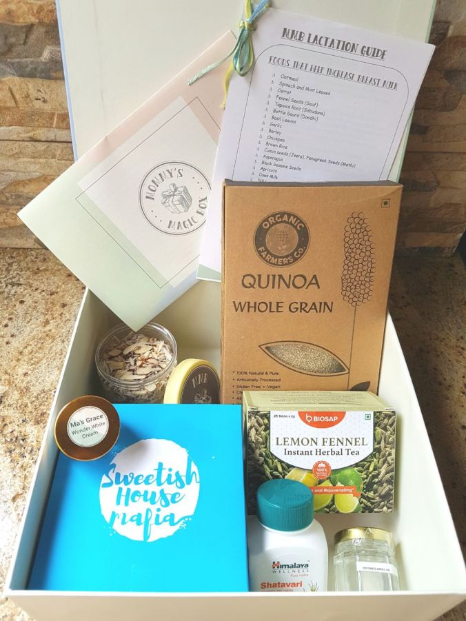 Mommys magic box, curated boxes for moms, curated gift box, gifts for new moms, MMB lactation box, Lactation box, breastfeeding mom, breastfeeding mother, breastfeeding gifts, gifts for new parents, gifts for new mom