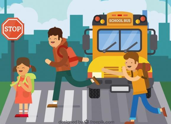 children-and-school-bus-with-flat-design_23-2147654740, preparing kids for school