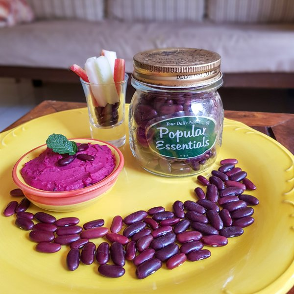Roasted beetroot hummus, beetroot hummus, rajma hummus, tahini, hummus with tahini, hummus with rajma, healthy hummus, dips, healthy dip recipe, hummus recipe for kids, hummus for babies