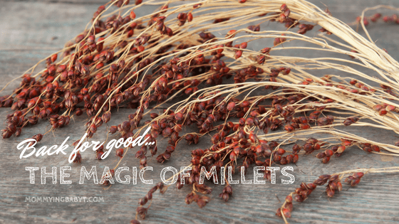The humble millets have made a comeback in recent times as a healthy food option for babies and grown ups too. #millets #healthyfoodforbabies #healthyfoodforkids #healthybreakfast #healthysnacksforkids