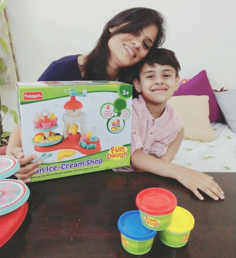Dough is an ultimate fum for kids more than 3 years old. Playing with Playdough and Fundough not just ignites creativity but also helps in social, emotional, linguistic and fine motor developments. It helps kids build up a self confidence. Read about fundough from the house of best toy brand in India, FUnskool #funskool #fundough #playdough #dough #creativekids #raiingkids #play #motherhood