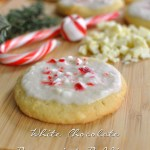 White Chocolate Peppermint Pudding Cookies