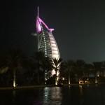 Avond uitzicht vanuit Jumeirah Madinat