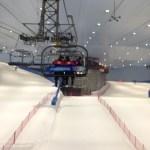 In de skilift omhoog