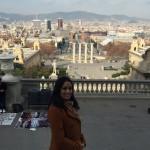 Uitzicht op Barcelona