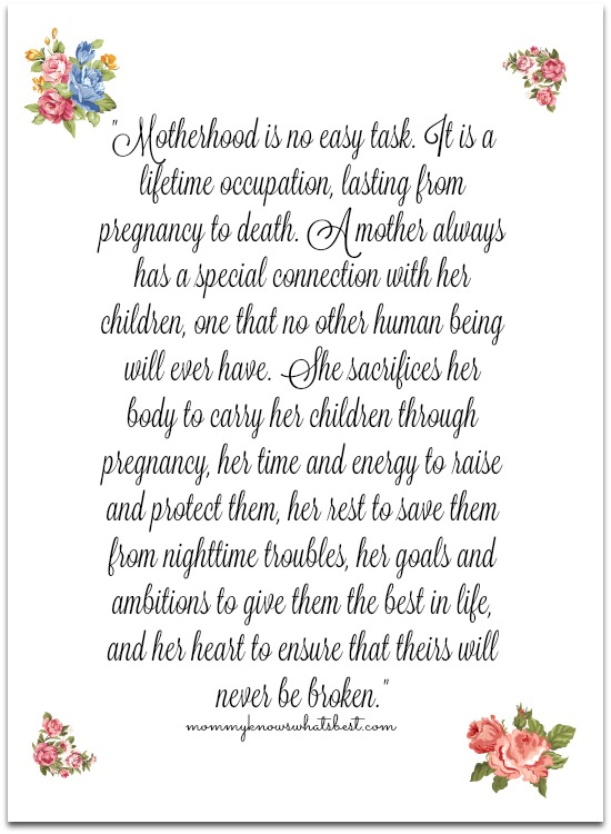 Mother's Day Reflection · Mommy Knows What's Best
