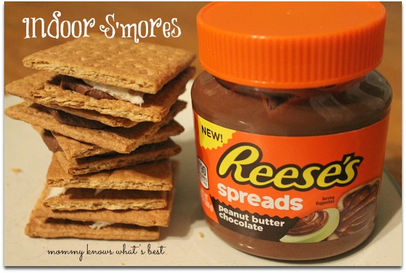 indoor smores recipe with reeses spreads