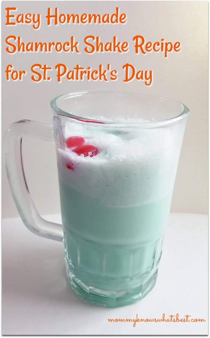 Easy Homemade Shamrock Shake Recipe