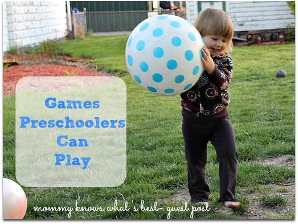 games preschoolers can play