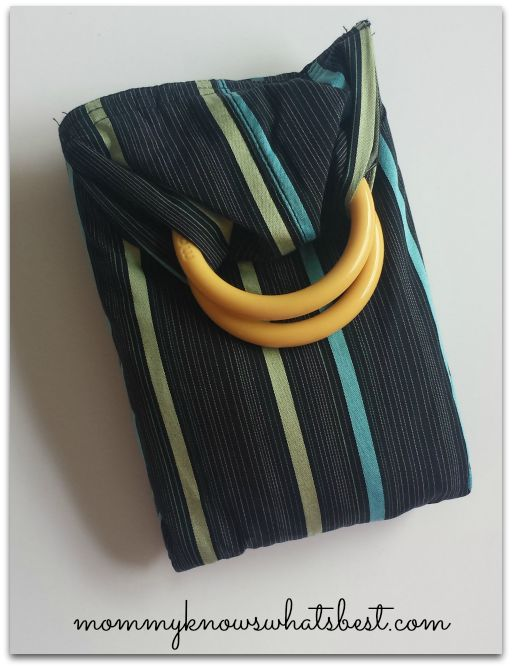 blue baby ring sling carrier