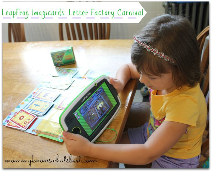LeapPad Imagicards Letter Factory Carnival