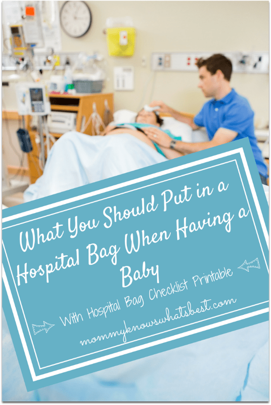 What You Should Put in a Hospital Bag When Having a Baby