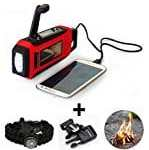 Solar & Hand Crank Powered, smartphone Cellphone Charger & Led Flashlight