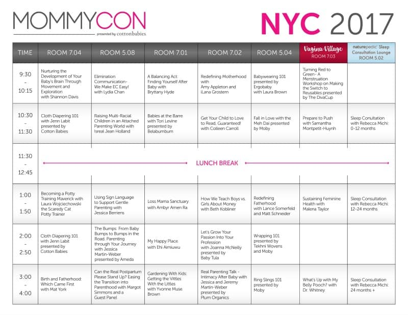 mommycon nyc schedule